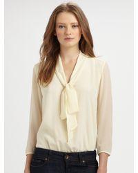Tibi | Natural Silk Bodysuit | Lyst