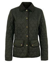 Barbour | Green Olive Vintage Tweed Quilted Jacket | Lyst