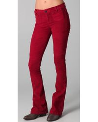 Goldsign | Red Blossom Leather Flare Pants | Lyst