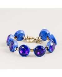 J.Crew | Blue Crystal Brûlée Bracelet | Lyst