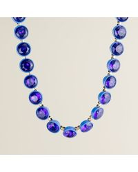 J.Crew | Blue Crystal Brûlée Necklace | Lyst
