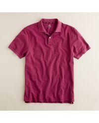 J.Crew | Purple Repp Piqué Polo in Slim Fit for Men | Lyst
