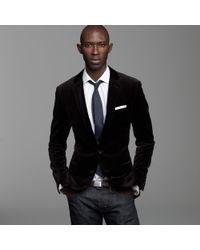 J.Crew | Black Velvet Sportcoat in Ludlow Fit for Men | Lyst