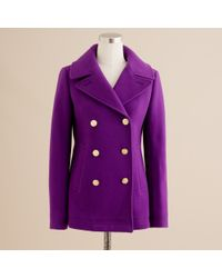 J.Crew | Purple Majesty Peacoat | Lyst