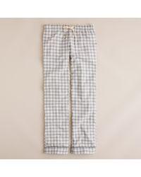 J.Crew - Gray Flannel Pyjama Pant in Gingham - Lyst