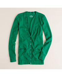 J.Crew | Green Perfect-fit Mixed-tape Cardigan | Lyst