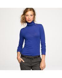 J.Crew | Blue Tissue Turtleneck Tee | Lyst