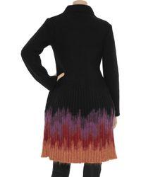 M Missoni Black Ombré Wool-blend Cardi-coat