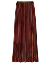M Missoni Red Ribbed-knit Maxi Skirt