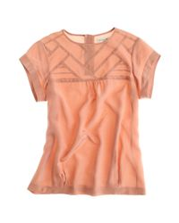 Madewell | Pink Silk Intermission Top | Lyst