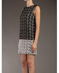 MSGM | Black Shift Dress | Lyst