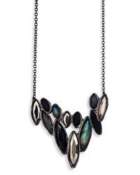 Alexis Bittar | Metallic Miss Havisham Quartz & Hematite Doublet Pendant Necklace | Lyst