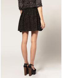 ASOS Collection - Black Asos Mini Skirt in Lurex Knitted Jersey - Lyst