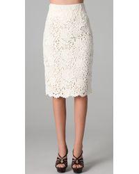 Elie Tahari | White Bennet Lace Skirt | Lyst