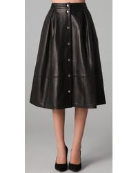 Elizabeth and James | Black Ginny Leather Skirt | Lyst