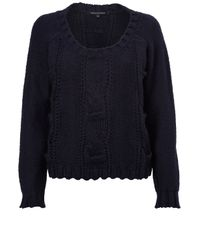 French Connection | Blue Ellie Boxy Cable Knit Jumper | Lyst