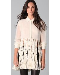 James Long - Natural Macrame Shirt - Lyst