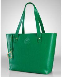 Lauren by Ralph Lauren | Green Newbury Leather Classic Tote Bag | Lyst