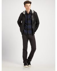 Marc By Marc Jacobs | Blue Washed Leather Jacket for Men | Lyst