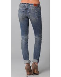 PRPS | Blue Print Skinny Jeans | Lyst