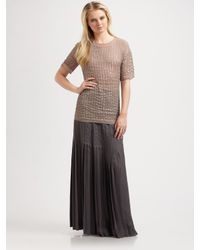 Richard Chai Love - Brown Sequin Tee - Lyst