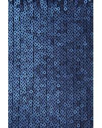 TOPSHOP Blue Sequin Crop Cami