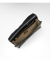 Tory Burch - Black Patent Robinson N/s Envelope Clutch - Lyst
