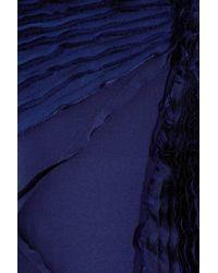 Zac Posen Blue Cutout Silk Gown