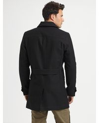 Converse | Black Wool Peacoat for Men | Lyst