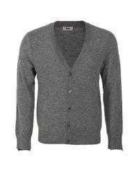 Acne | Gray Atlas Cardigan - Grey for Men | Lyst