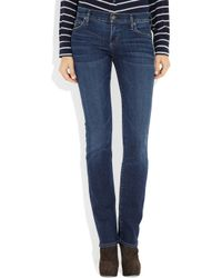 Citizens of Humanity - Blue Stonewashed Cropped Jeans - Lyst