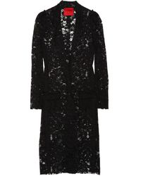 Lanvin | Black Long Cotton-blend Lace Jacket | Lyst