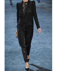 Lanvin - Black Lace Cropped Jacket - Lyst
