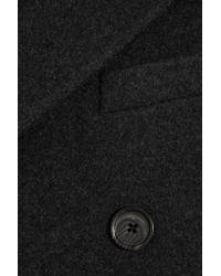Ralph Lauren Black Label - Black Wool and Angora-blend Coat - Lyst