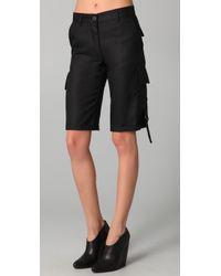 Kelly Bergin - Black Silk Cargo Shorts - Lyst