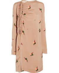 Marni - Pink Printed Silk-crepe Dress - Lyst
