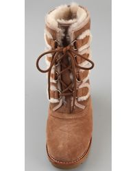 UGG Rommy Lace Up Boots Brown