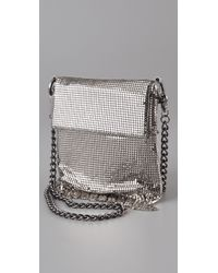 Whiting & Davis - Metallic Basic Chain Mesh Bag - Lyst