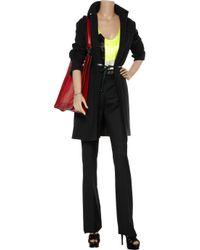 Calvin Klein Black Kent Wool-crepe Pants