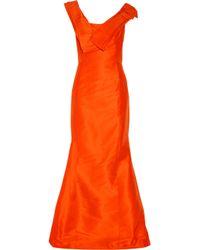Carolina Herrera Orange Silk-faille Gown