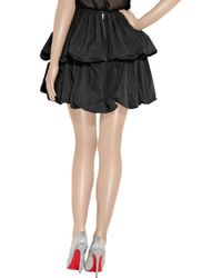 Carven Black Tiered Taffeta Puffball Skirt