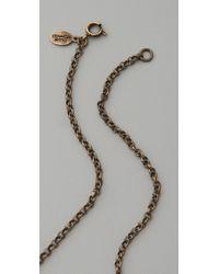 Club Monaco | White Vintage Button Necklace | Lyst