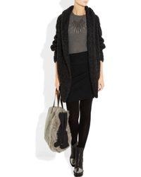 Donna Karan Brown Cashmere-blend Mini Skirt