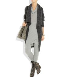 Donna Karan - Gray Stretch Cashmere-blend Leggings - Lyst