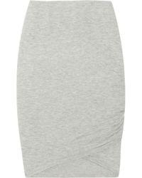 Donna Karan - Black Stretch Cashmere-blend Skirt - Lyst