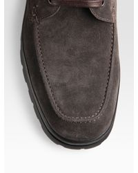 Ferragamo - Gray Clarence Suede Winter Boots for Men - Lyst