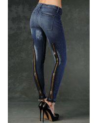 Hudson Jeans | Blue Back Zip Skinny Cut Fly | Lyst