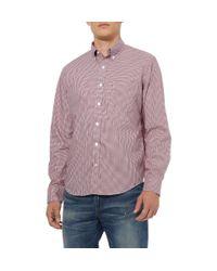 J.Crew - Red Thomas Mason Gingham Check Shirt for Men - Lyst