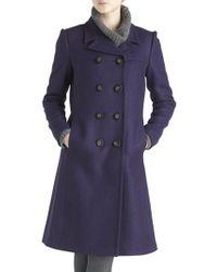 Jigsaw Shetland Coat Purple