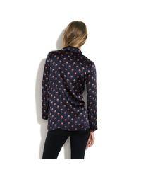 Madewell Blue Alexa Chung For Valentine Pajama Top